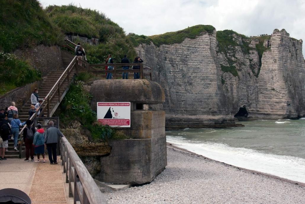 Bunker op het strand van Étretat